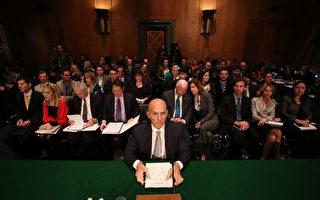 连续两天,Equifax前公司首席执行官理查德•史密斯接受国会议员拷问。 (Photo by Mark Wilson/Getty Images)