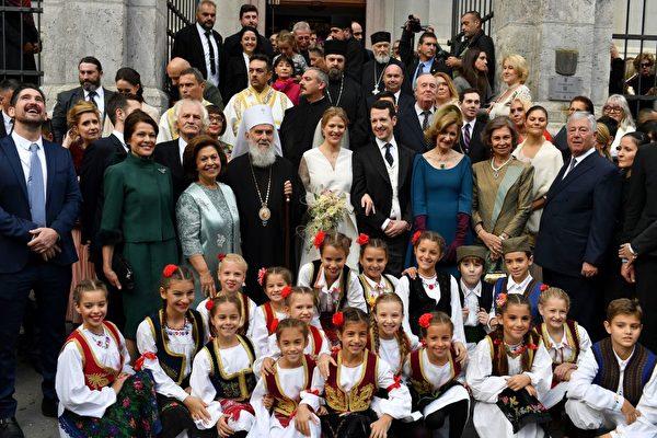 10月7日,菲利浦王子大婚,多名歐洲王室成員前來賀喜。(ANDREJ ISAKOVIC/AFP/Getty Images)