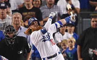 MLB季后赛特纳再见轰 道奇二连胜