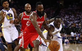 NBA揭幕战 火箭逆转险胜勇士