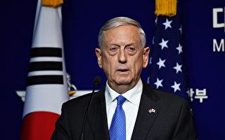 美防长:核武威胁升级 绝不接受朝鲜拥核