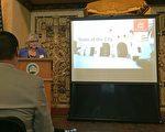 """10月19日,圣盖博市长Juli Costanzo与多位市议员,在圣盖博大剧院(San Gabriel Mission Playhouse)举行了一年一度的""""市政咨文""""(State of the City)活动。图为""""市政咨文""""活动现场。(姜琳达/大纪元)"""