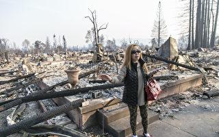 家园受大火肆虐变废墟 北加州华人渴望重建