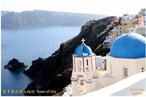 希腊南爱琴海圣托里尼岛的伊亚,是一个风景如画的小镇。(行云提供)