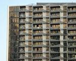 墨尔本达克兰(Docklands)区的Lacrosse公寓楼。(Scott Barbour/Getty Images)