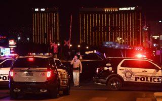 10月1日,拉斯维加斯发生了美国历史上最大的枪击案。 (Mark Ralston/AFP/Getty Images)