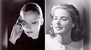 葛丽泰·嘉宝(Greta Garbo)与英格丽·褒曼(Ingrid Bergman,右),是上世纪三四十年代风靡全球的瑞典巨星。(大纪元合成)