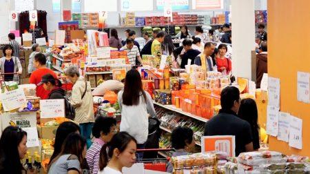 中秋節當日,華人聚集的各大華人超市人流比以往多得多。