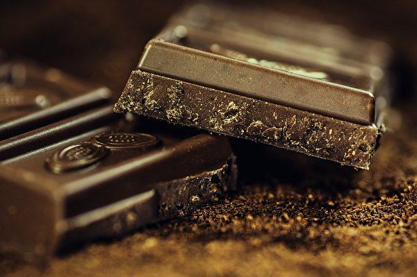 黑巧克力。(Alexander Stein/CC/Pixabay)
