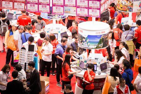 """""""2017台北国际旅展""""27日登场,受到近期日币贬值与年底休假潮等因素影响,短行程的日本线行程首日询问度普遍较高。"""