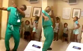 3女孩就诊超紧张 医生一个动作让她们瞬间放松