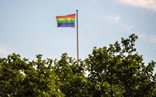 9月19日,Mount Alexander Shire郡政府举行会议,投票决定是否悬挂彩虹旗来支持人们为同性婚姻投赞成票。(Carl Court/Getty Images)