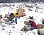 钟孙霖与团队在西藏进行地质调查。(《研之有物》提供)