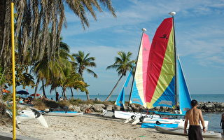 西礁島大約50%的工作機會與旅遊相關。圖為西礁島(吳蔚溪 / 大紀元)