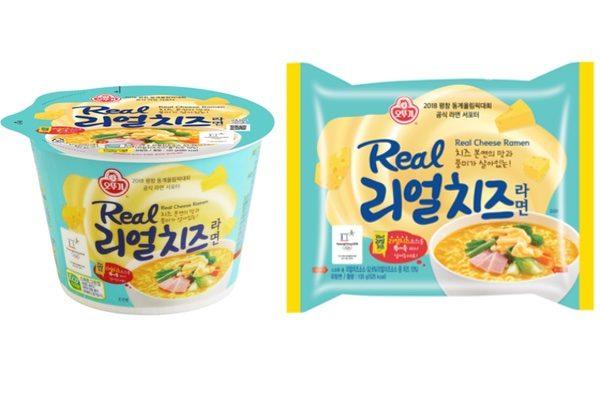 最新推出的新產品—不倒翁「Real Cheese拉麵」(大紀元)