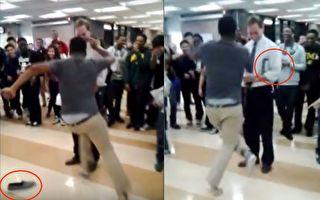 男生跑到校长跟前秀舞技 没想到1秒后他恨不得钻地缝