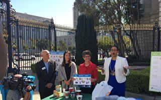 """旧金山环保局和垃圾处理公司""""绿源再生""""发表声明,表示原来不能处理的废品,现在都可以进行回收。(景雅兰/大纪元)"""