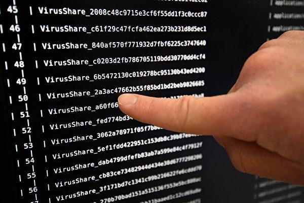美國國土安全部和聯邦調查局於11月14日警告說,朝鮮開發的惡意軟件Fallchill仍留存網路中,可持續攻擊政府或民間的組織。圖為一種電腦病毒。(DAMIEN MEYER / AFP)
