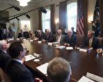 週一(11月20日),美國總統川普在內閣會議上宣布,他指定朝鮮是恐怖主義支持國。(AFP PHOTO / SAUL LOEB