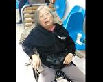 上海黄浦区访民孙红珍在迫害中突发脑梗,无法正常说话,行动不变,但仍坚持控诉非法迫害。(视频截图/访民提供)