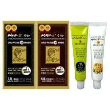 韓國生產的金牌產品——ASSANTA「愛先得」黃金一分鐘染髮劑。(商家提供)