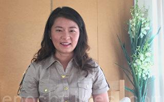 高智晟的女兒耿格在舊金山灣區接受大紀元新唐人聯合採訪。(大紀元)