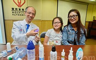 廣華醫院兒科部門主管吳國強希望透過預測兒童6歲後因哮喘入院機會,可幫助病人對症下藥,儘早「斷尾」。(宋碧龍/大紀元)