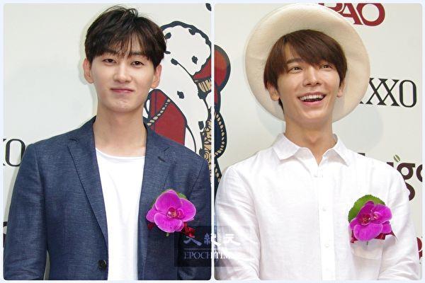 由Super Junior的东海(右)与银赫(左)所组成的子分队D&E(档案照)即将推出新单曲。(黄宗茂/大纪元合成)