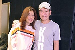 黄嘉千(左)当年由赵传(右)一手提携出道,推出专辑叫好叫座。这次她特别为昔日恩师开嗓。(旋风音乐提供)