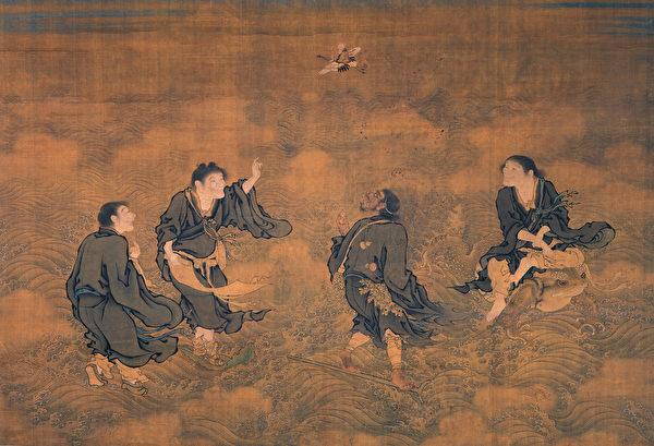 道教四仙拱寿图(明代早期)。(公有领域)