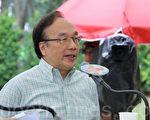 公民黨主席梁家傑批評李飛來港「宣旨」立23條,為港添亂。(大紀元/蔡雯文)