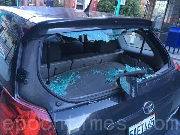 旧金山砸车窗玻璃盗窃频发
