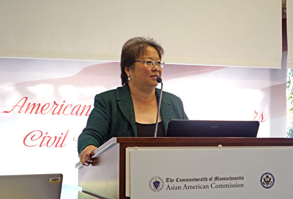 美国退休协会(AARP)多元文化引领亚太裔受众副总裁郭为婉(Daphne Kwok)。 (景灏/大纪元)