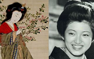 左:楊貴妃畫像;右:山口百惠《伊豆的舞女》劇照(公有領域/大紀元合成)