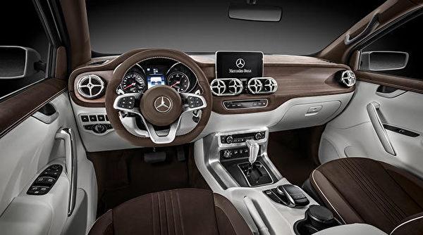 奔馳X-Class皮卡車。(Mercedes Benz提供)