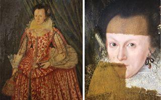 影片中可見,去除發黃罩漆之後,這位400年前曾精心打扮的女子,終於向今天的世人展現出她的原貌。(視頻截圖/大紀元合成)