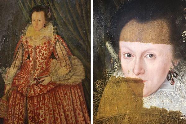 影片中可见,去除发黄罩漆之后,这位400年前曾精心打扮的女子,终于向今天的世人展现出她的原貌。(视频截图/大纪元合成)