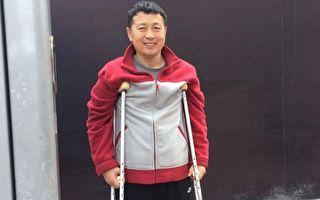 """唐吉田律師因""""建三江事件"""",10根肋骨被打斷,後遭遇車禍。(向莉提供)"""
