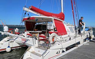 澳洲警方截获的藏毒游艇,船体内藏有700公斤毒品。(新州警方提供)