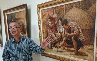 員山公所變身美術館  展在地藝術家畫作