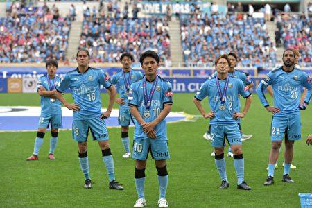 在11月4日舉行的日聯盃決賽中,川崎前鋒隊輸給大阪櫻花隊,第4次屈居亞軍。(野上浩史/大紀元)