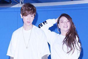 9年没出专辑的方泂镔(左),8日与小甜甜(右)为演唱会一起练舞。(黄宗茂/大纪元)