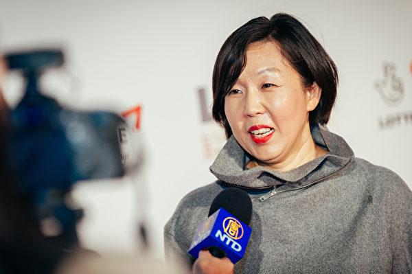 倫敦東亞電影節總監Hyejung Jeon接受新唐人採訪(新唐人電視台)