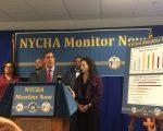 州參議員克萊恩呼籲建立獨立監督機制檢查紐約市公屋。 (施萍/大紀元)