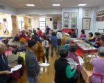 紐約華裔退伍軍人會昨天(19日)在會所舉辦一年一度的感恩餐會,二百多位會員及親友參加。 (蔡溶/大紀元)