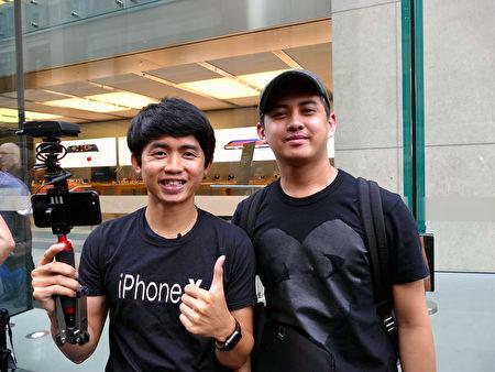 專程從泰國飛來悉尼的YouTuber。(安平雅/大紀元)