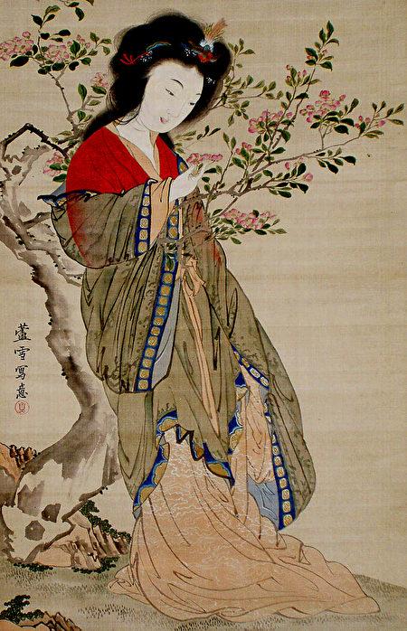 杨贵妃又称杨玉环,是中国古代四大美女之一。(公有领域)