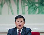 赵克志与时任贵州省委书记、现任中共政治局常委兼人大委员长栗战书搭档。  (Lintao Zhang/Getty Images)