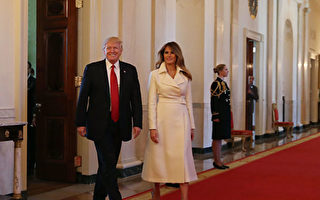 第一夫人梅拉尼婭與川普總統 (Mark Wilson/Getty Images)