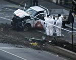 官員11月1日(週三)披露說,被控在紐約開車撞死八人的、原籍烏茲別克斯坦的嫌犯為此次攻擊計劃數週,並且事先進行偵查。週二,他開著租來的卡車沿著一條著名的自行車道撞向行人。( DON EMMERT/AFP/Getty Images)